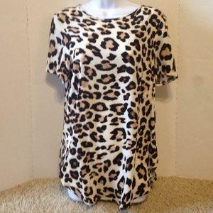 H&M leopard blouse